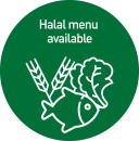 halal menu available