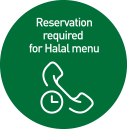 reservation required for halal menu